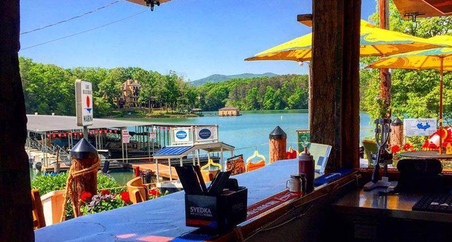 Boat Dock Bar and Grill at Lake Blue Ridge Marina