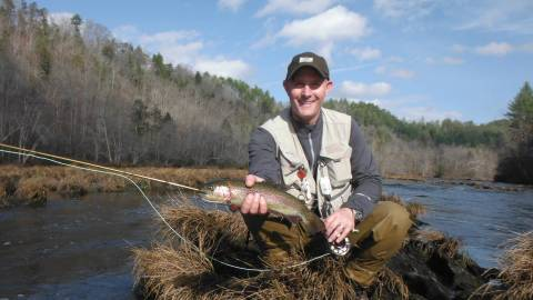 Trout fishing fannin county chamber of commerce blue for Fly fishing blue ridge ga