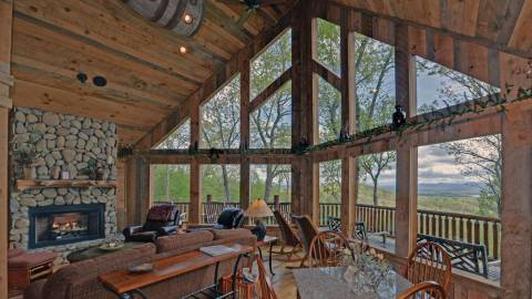 pines cabin vacation very rentals arrowhead hidden lake home cabins groupon lodge